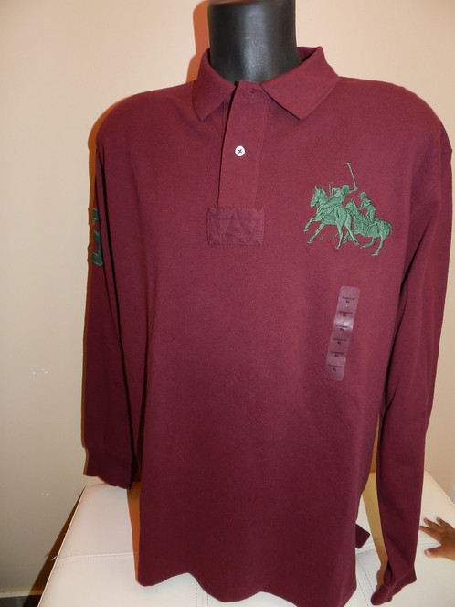 Men's Ralph Dual Match Shirt Ls Polo Lauren Nnvm0w8