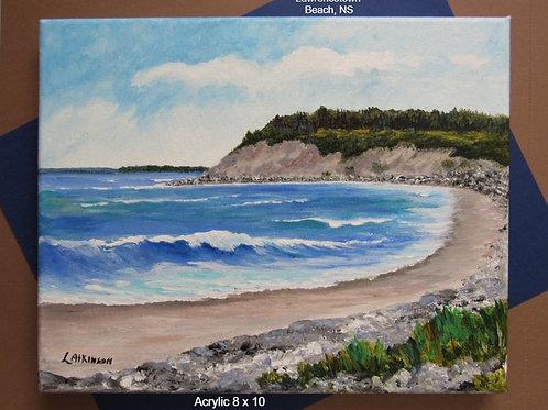 Acrylic Painting 8x10 - Lawrencetown Beach, NS (Unframed) - Linn's Creative
