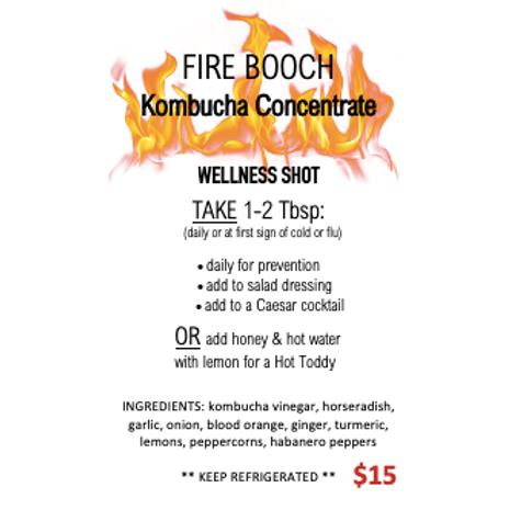FIRE Booch Wellness Shot (250ml bottle) -Pop Culture Brew Co.
