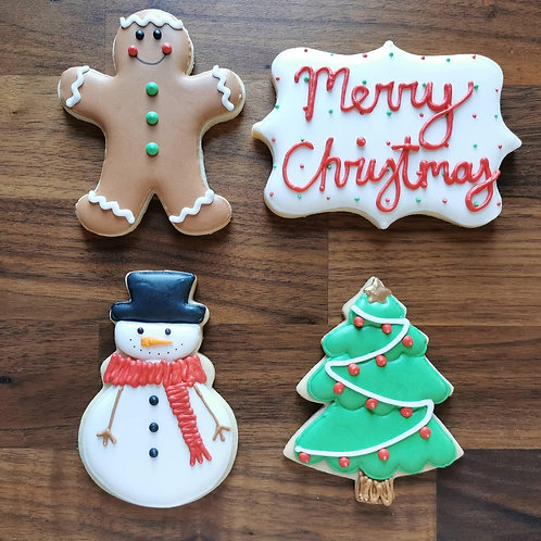 Hand Decorated Sugar Cookies Gift Box (4 cookies) - Steph's Cookie Co.
