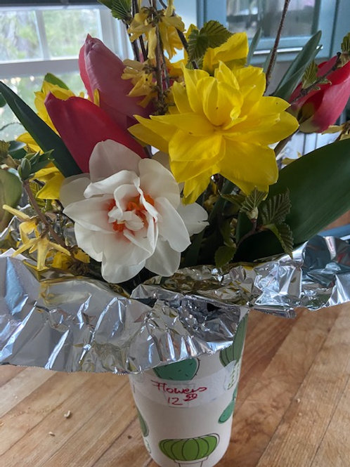 Bouquet of Flowers From My Own Garden (Small) - The Cake Lady