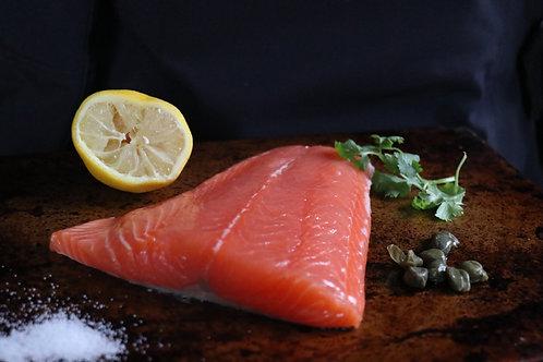 frozen sustainable blue salmon (land raised) - Evans Seafood