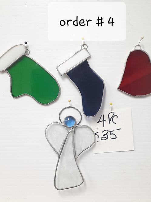 Christmas Blowout Tree Ornaments or Suncatchers Set #4 - Artisan Window