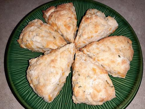 Cheddar-Chive Scones (Dozen) - Karyn's Cookies & Treats
