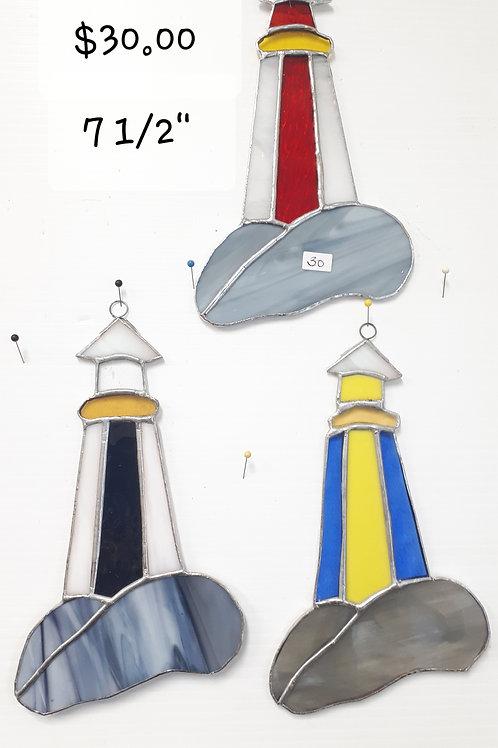 NOVA SCOTIA LIGHTHOUSE,  Red, Blue or Nova Scotia Strong (ea) - Artisan Window