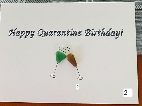 Authentic NS Sea Glass Greeting Cards (3pk Happy Birthday) - Nature's Best Rocks