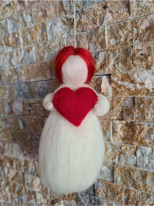 Valentine's Day Needle Felted Fairy Doll - Magic of Wool
