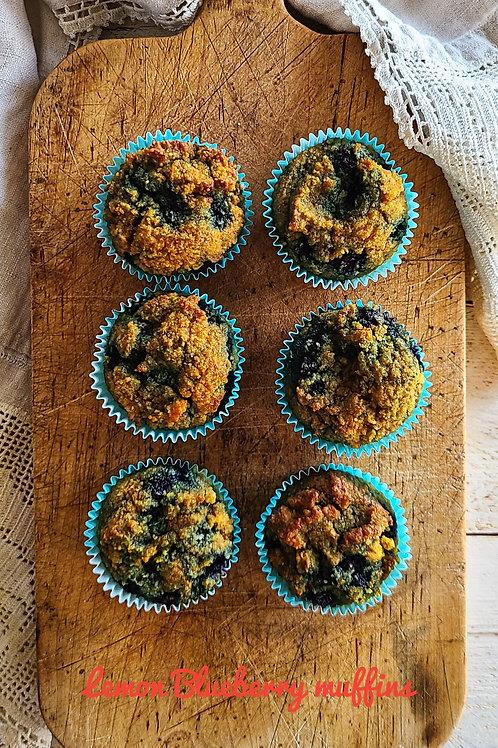 Lemon Blueberry muffins (G/F, D/F, Sugar-Free) - Box of 6 - Lively Bakery