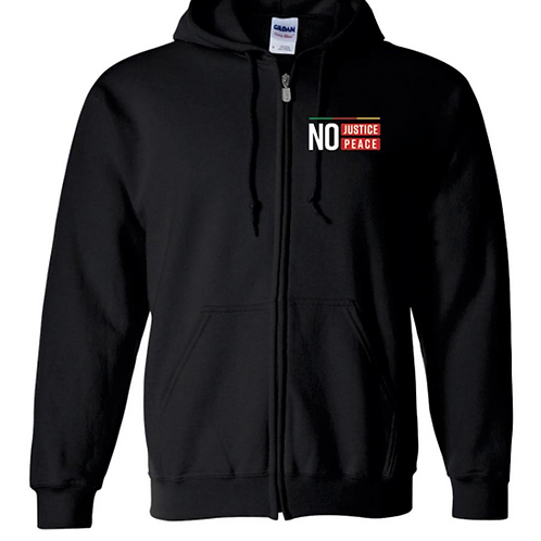 No Justice No Peace Zip Hoodie  - Teens Now Talk