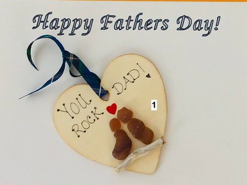 2 in 1 Fathers Day Sea Glass Card/Ornament! - Nature's Best Rocks