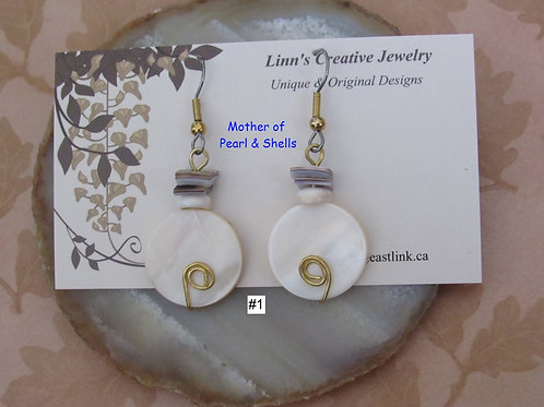 Earrings (Semi Precious Stone) *choose design* - Linn's Creative Jewelry