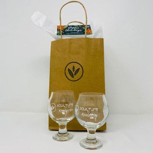 5oz Kombucha Tasting Glasses - Pop Culture Brew Co.