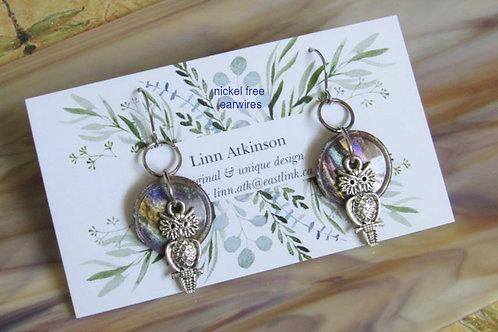 Cute As A Button Earrings #3 - Linn's Creative Jewelry