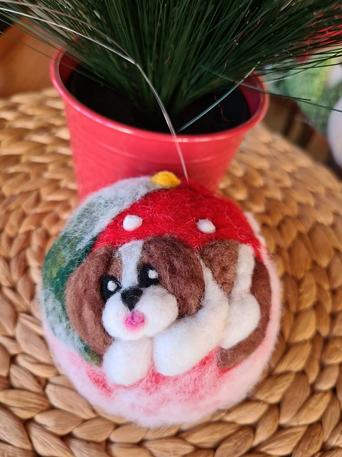 Felted Decoration - Dog Love - Magic of Wool