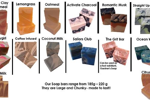 Soap Bars (185g - 220g) - Pleasure Soaks Bath and Body