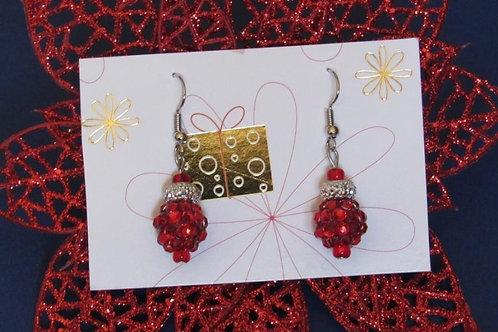 Red Sparkle Drops Festive Earrings - Linn's Creative Jewelry