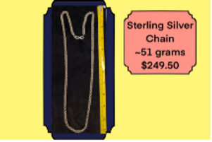 Sterling Sliver Chains - Prized Importers