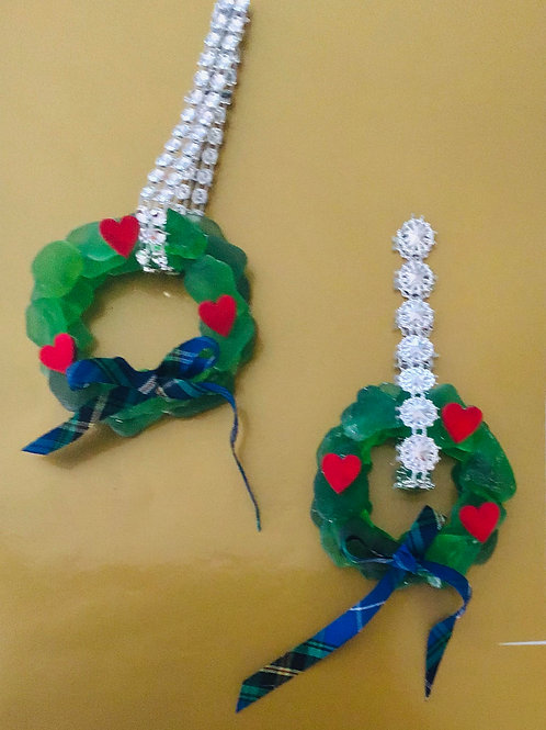 Authentic NS Green Sea Glass Wreaths - Nature's Best Rocks