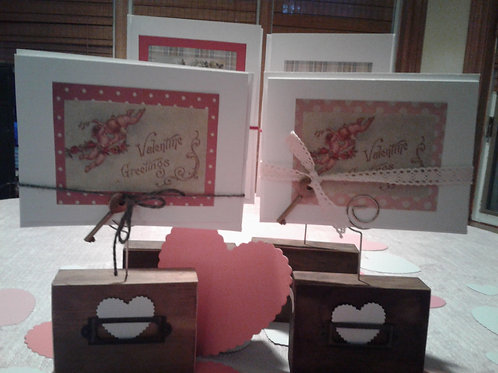 Vintage Note Cards with included Charms and Holders - Yodi Originals