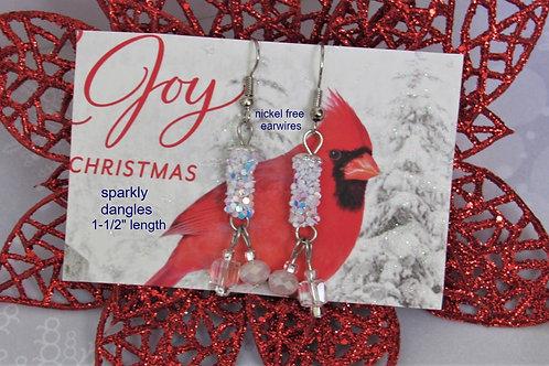 Sparkly Dangle Festive Earrings - Linn's Creative Jewelry