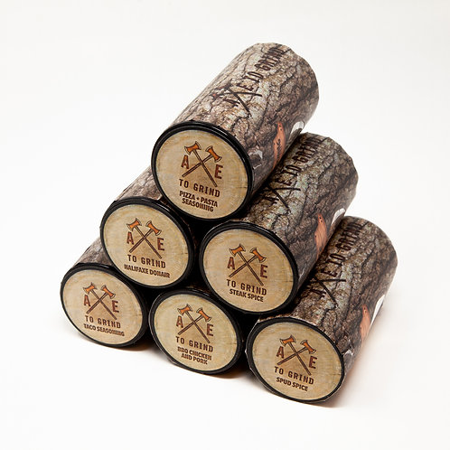 The Log Pile (6 pack glass Log Jars) - Axe to Grind