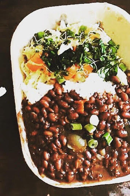 Rice, Beans & Savoy Cabbage Bowl - O'Cubano Cafe & Catering