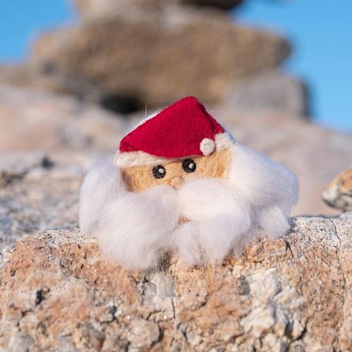 Felted Soap (Santa Claus) - Magic of Wool