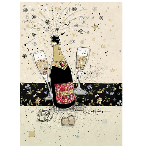 Greeting Card - Blank - CHAMPAGNE  (5″ X 7″) - Elements By Drala