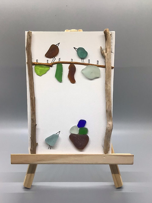 5x7 NS sea glass and NS beach rock picture (line vertical) - Nature's Best Rocks