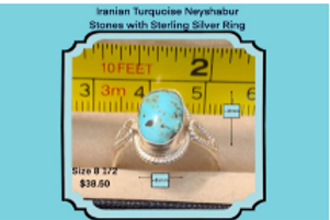Iranian Turquoise Sterling Sliver Rings - Prized Importers