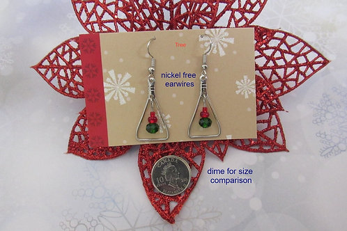 Tree Holiday Festive Earrings - Linn's Creative Jewelry