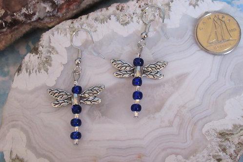 Blue Dragonflies - Linn's Creative Jewelry