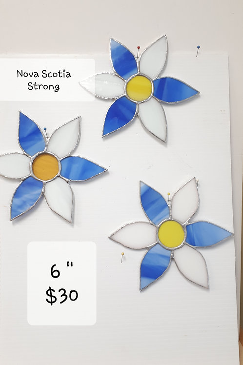 NOVA SCOTIA STRONG FLOWER Handcrafted Stained Glass (ea) - Artisan Window