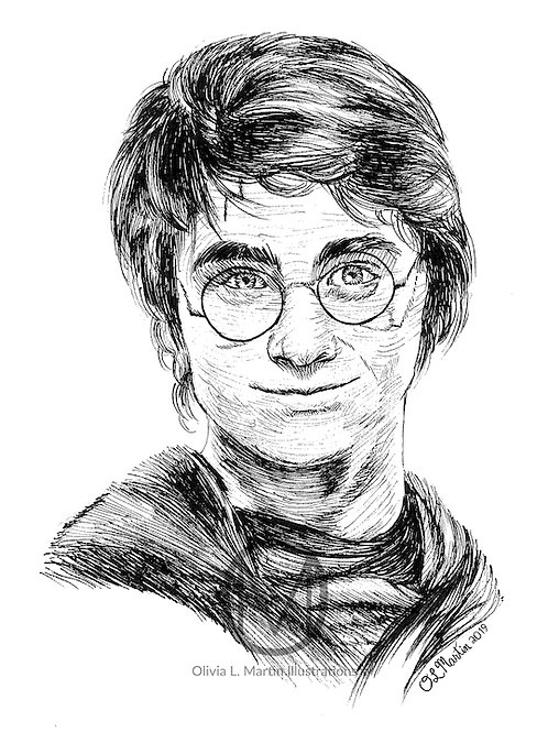 Daniel Radcliffe as Harry Potter art print - O.L. Martin Graphic Artist