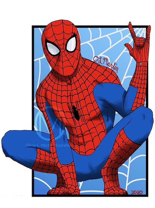 "Spiderman 8x10"" art print - O.L. Martin Graphic Artist"