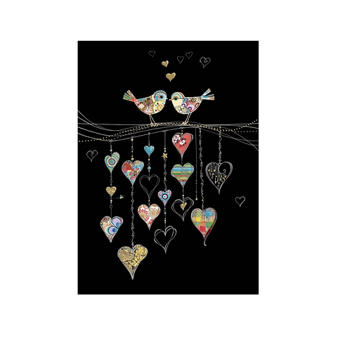 Greeting Card - Blank - Love Birds  (5″ X 7″) - Elements By Drala