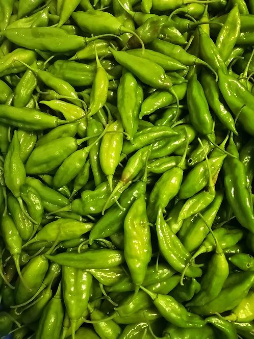 Hot Peppers Green Chilis (1lb)  - Snowy River Farms