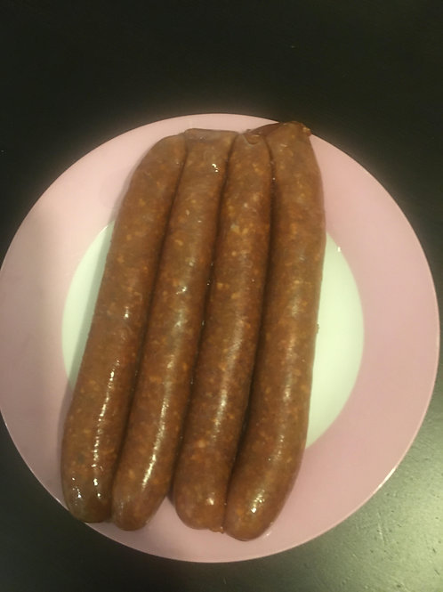 Merguez sausages (4 pk beef, spicy) - Fred's Sausages