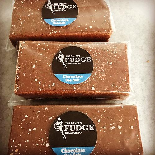 Chocolate Sea Salt Fudge (150g) - The Baker's Fudge