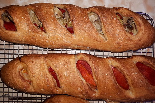 Fougasse Pepper and Artichoke bread (order by wed) - The Community Baker