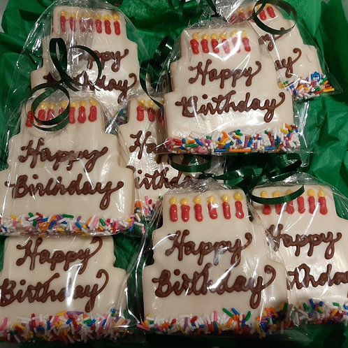 Chocolate Dipped Decorated Shortbread (box of 8) - Karyn's Cookies and Treats