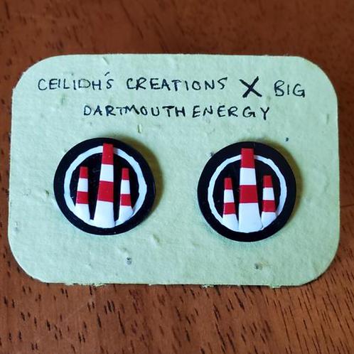 Smokestack Stud Earrings  - Big Dartmouth Energy