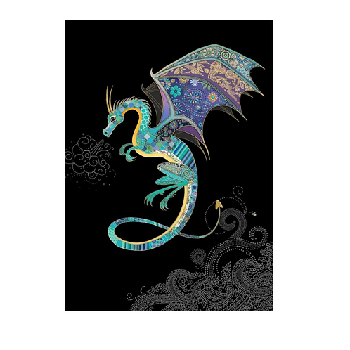 Greeting Card - Blank - DRAGON   (5″ X 7″) - Elements By Drala