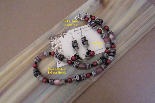 Original Necklace and Earring Set #9 - Linn's Creative Jewelry