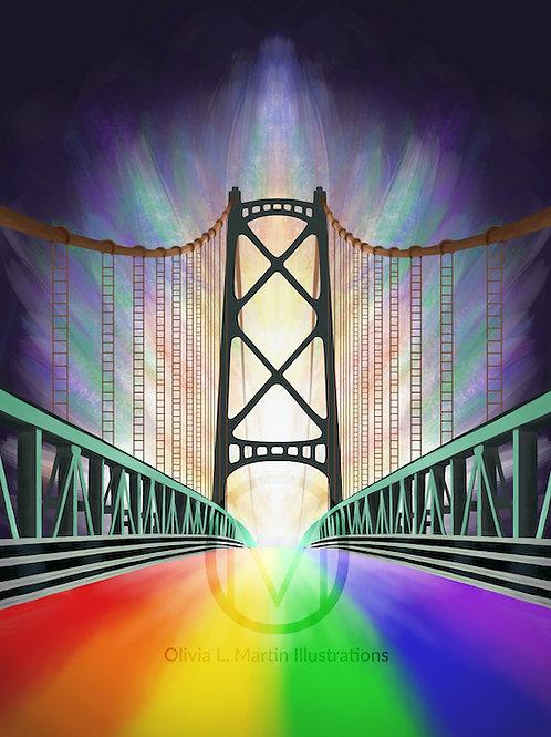 Halifax Rainbow Bridge art print - O.L. Martin Graphic Artist