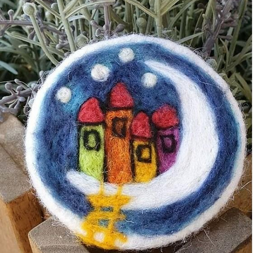 Felted Soap - Houses on the moon - Magic of Wool