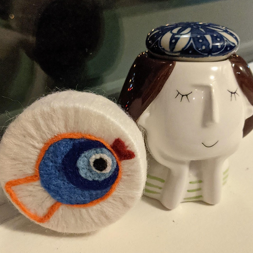 Felted Soap - Evil Eye - Magic of Wool