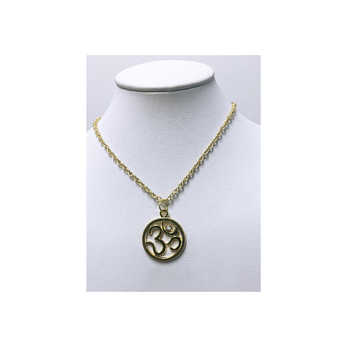 Pendant Metal- Golden OM - Elements By Drala