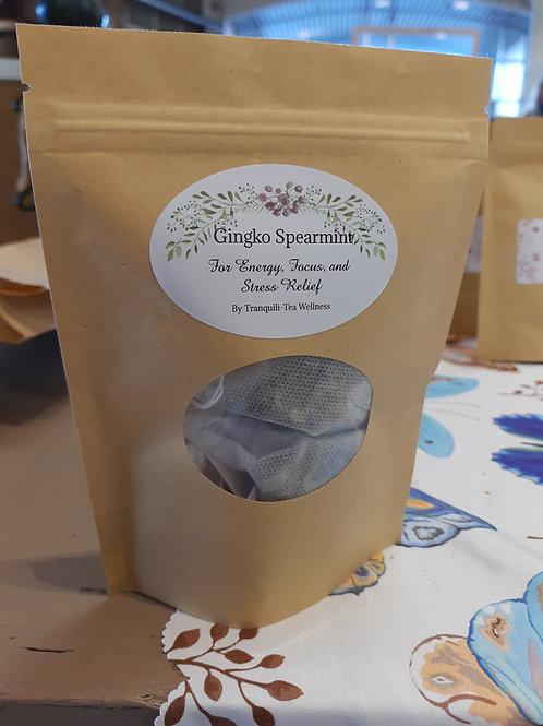 Gingko Spearmint Tea - Tranquili-Tea Wellness