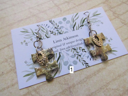 Earrings (Its A Puzzle Collection) *choose design* - Linn's Creative Jewelry